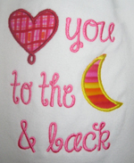 Love You To The Moon T-Shirt for girls-love you to the moon and back shirt